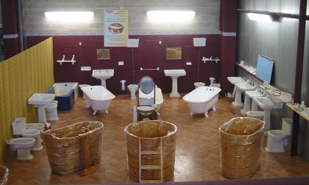 Decoracion De Baños Con Baneras: vistas de nuestra exposición de bañeras y piezas antiguas de baño