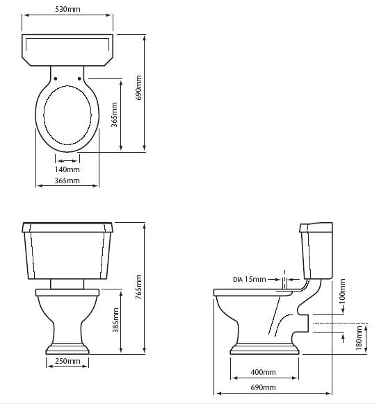 Baños Medidas Planos:Dimensiones De Banos