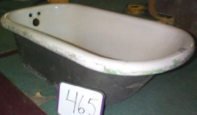 Bañera en proceso de restauración