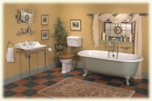 Baños clásicos. Serie porcelana Victoriana